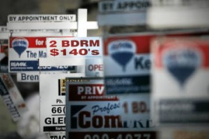 Real estate signs in Winnipeg For The Globe and Mail