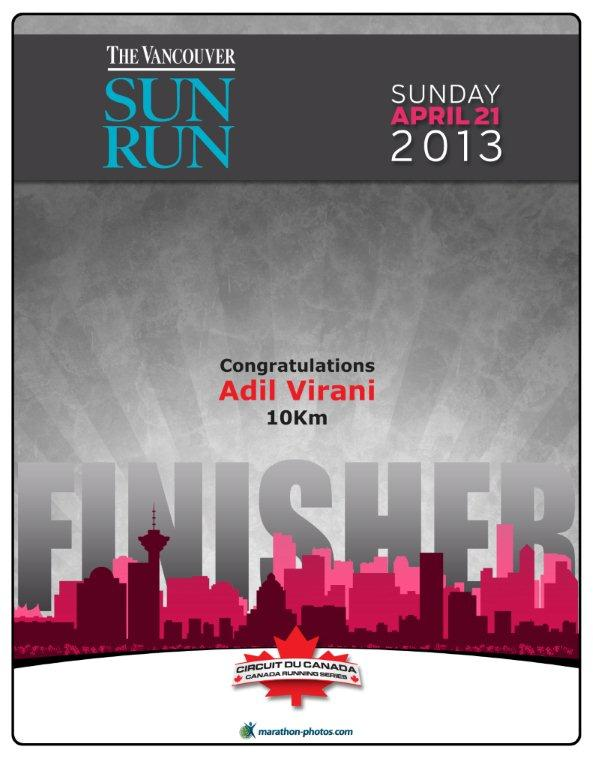 Vancouver Sun Run  2013 Finisher